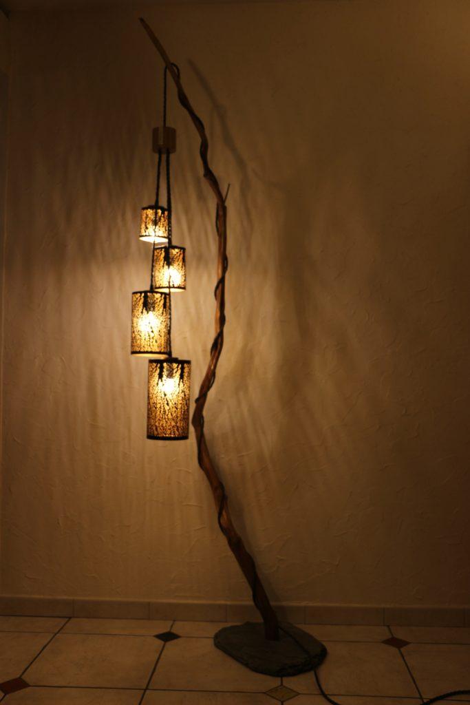 lampe en bois artisanale Luciole filabois