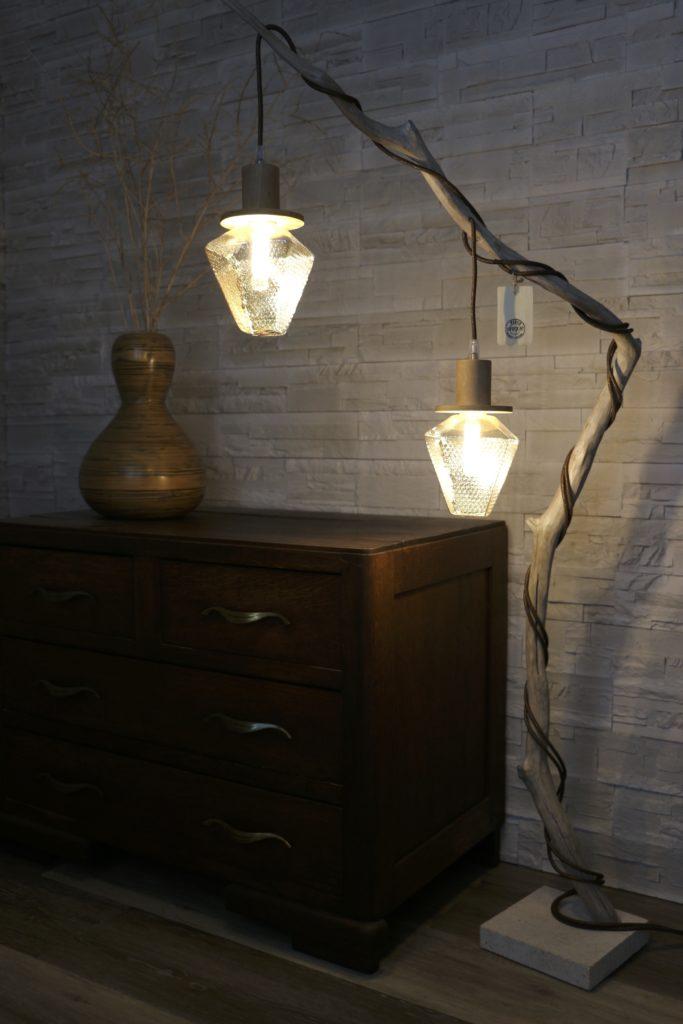 lampe en bois nacrée filabois