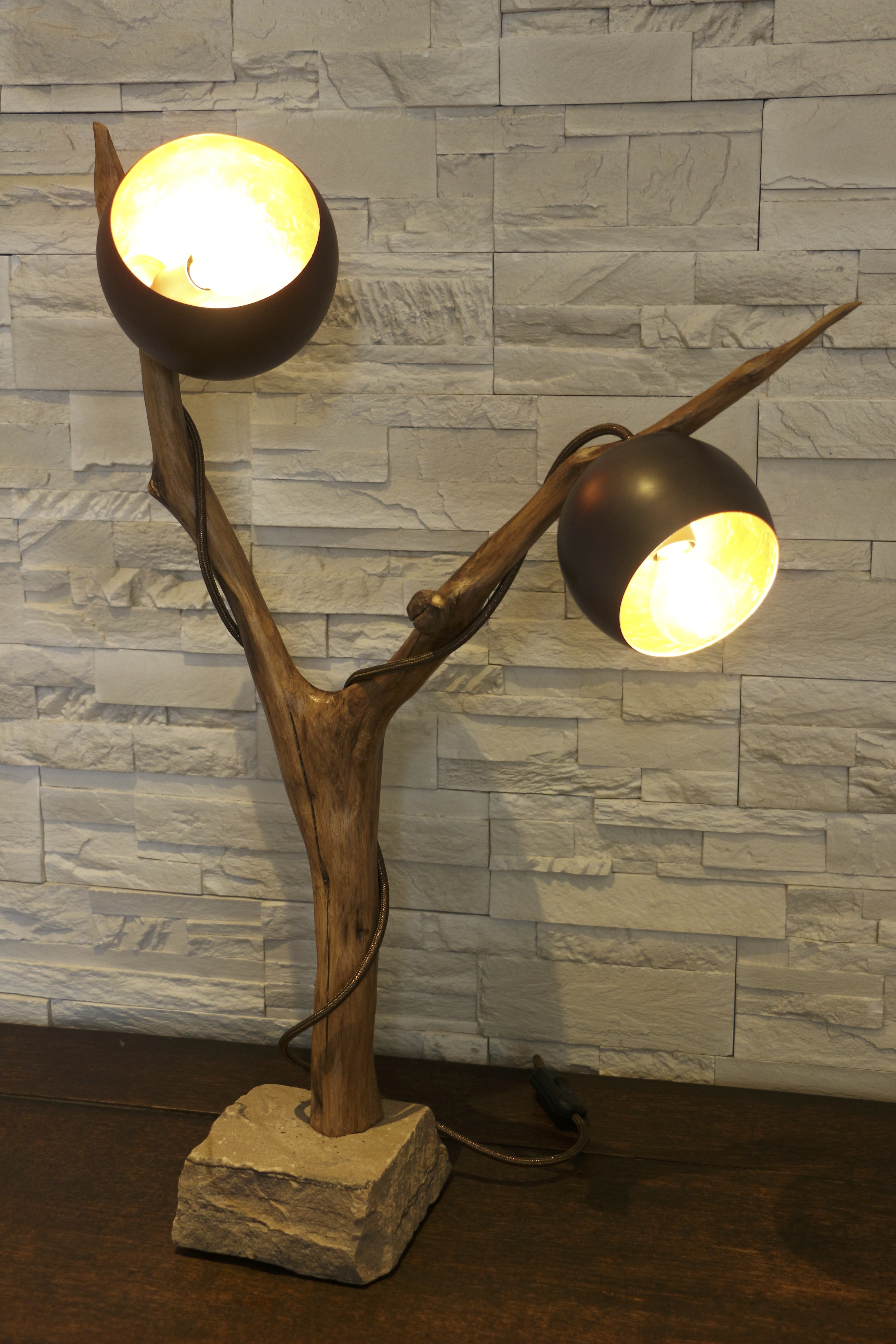 lampe en bois Oxo filabois