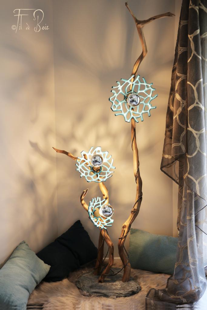 lampe fil à bois
